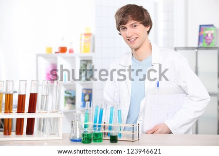 Science lesson - stock photo