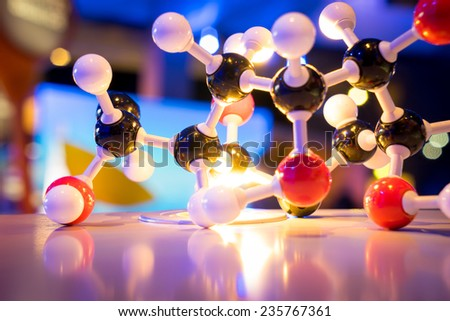 Science Molecule DNA Model Structure, business concept  - stock photo