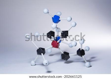 Science Molecule Molecular DNA Model Structure - stock photo