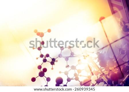 Science Molecule, Molecular DNA Model Structure, business teamwork concept - stock photo