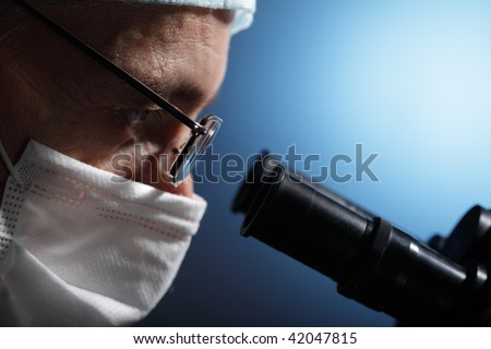 science research - stock photo