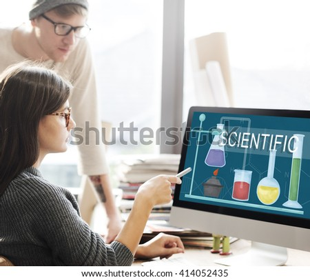 Science Research Project Knowledge Innovate Experience Intelligence - stock photo