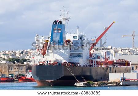 science ship in Grand Harbour. Valletta, Malta - stock photo