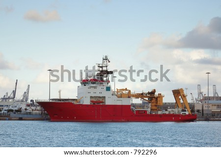 Science ship visiting Las Palmas in Spain No sharpening or USM used.