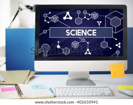 Science Stem Cell Technology Atom Dna Concept - stock photo