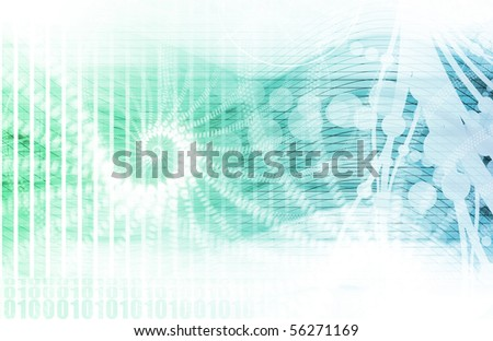 Science Technology Data as a Abstract Art - stock photo