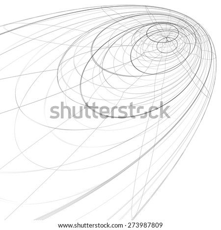 Scientific and technology monochrome stylish background, abstract dimensional figure with lines mesh. 3d graphic spatial complicated backdrop, design project. - stock photo