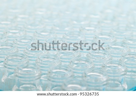 Scientific Background - Chromatography glass vials. - Please see my portfolio for similar images - stock photo