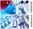 Scientific background collage. Medical research. - stock photo