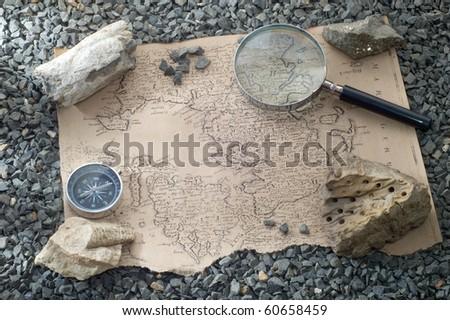 scientific expedition - stock photo