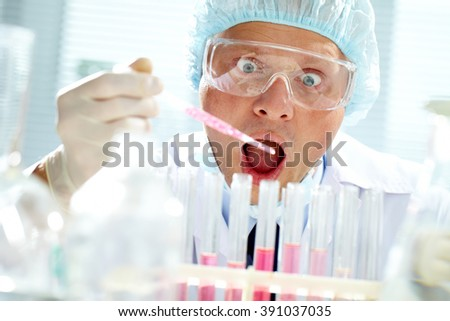 Scientist at work - stock photo