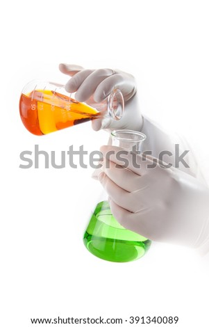 scientist doing chemical test