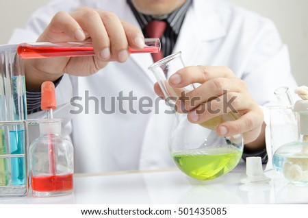 scientist with equipment