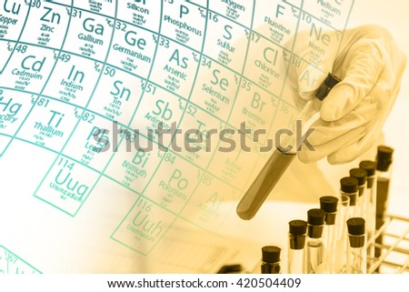 Scientists are certain activities on experimental science like mixing chemicals, use microscope, entry data to develop medicines or foods for everyone on the world, copy space, film effect.