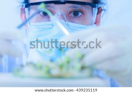 scientists working at the laboratory,scientist leaning against the whiteboard in laboratory,scientist background,female scientist looking in laboratory,scientists studying and selective focus. - stock photo