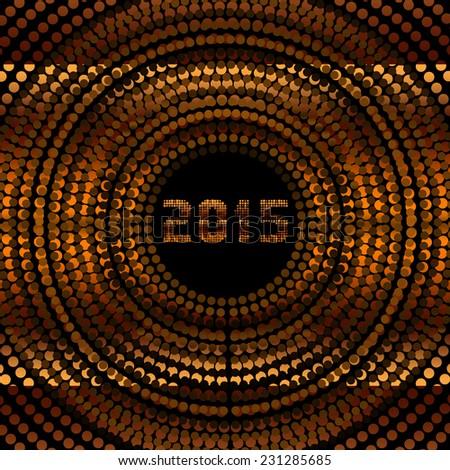 Scintillating New Year 2015 - stock photo