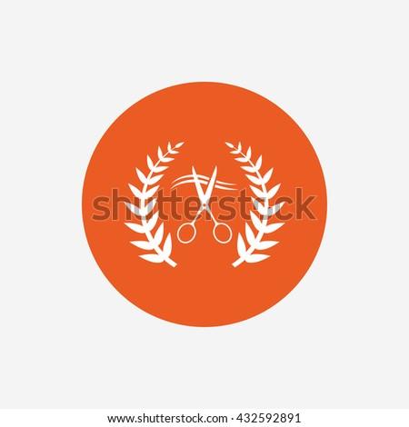 Scissors Cut Hair Sign Icon Hairdresser Stock Illustration 432592891