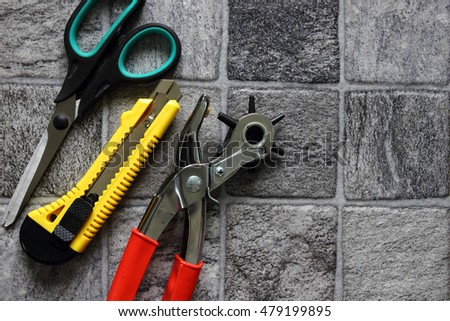 Circular Saw Blade On Pegboard Stock Photo 252716188