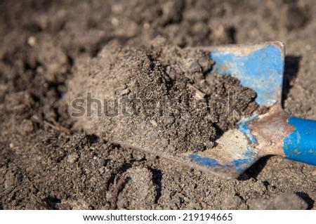 Scoop close up. Gardening tools - stock photo
