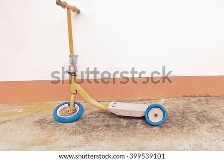 Scooter isolated  - stock photo
