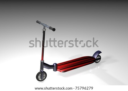 Scooter isolated