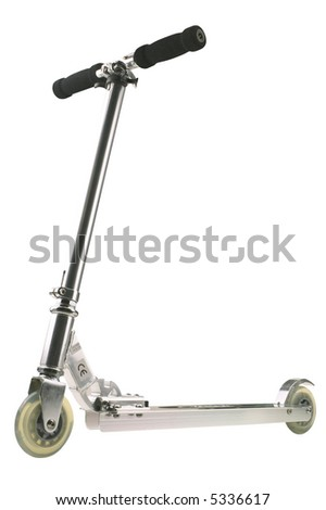 Scooter - isolated on white - stock photo