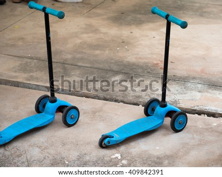 Scooter Kids - stock photo