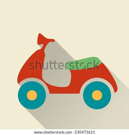 Scooter. Single flat icon. Raster version - stock photo