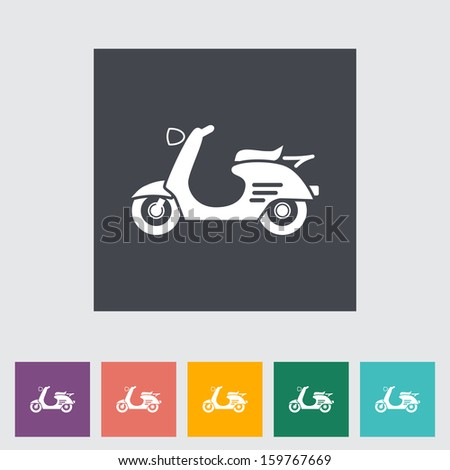 Scooter. Single icon.  - stock photo