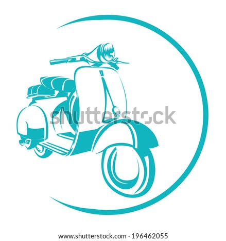 Scooter Symbol - stock photo