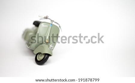 scooter vespa object , 8 May 2014, in my studio, Povoa de Lanhoso - stock photo