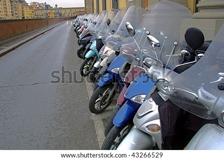 Scooters in Italy - stock photo