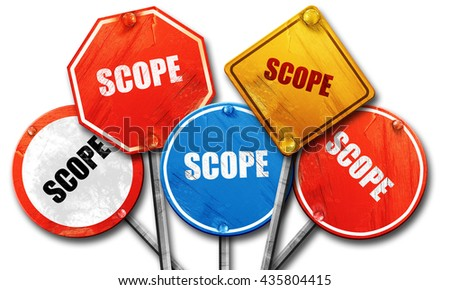 scope, 3D rendering, rough street sign collection