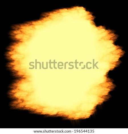Scorched paper isolated on a black background - stock photo