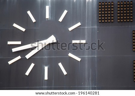 score board at stadium - stock photo