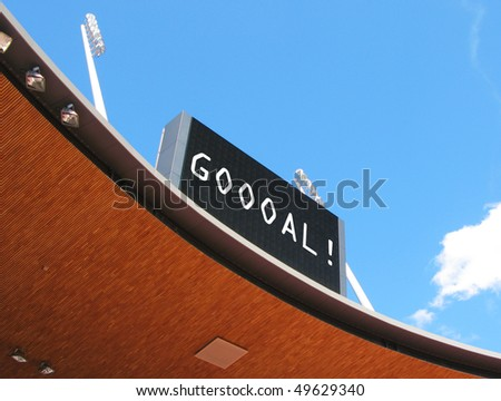 Scoreboard - stock photo