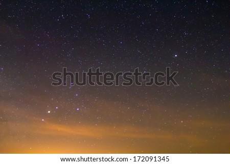 scorpio constellation on a night sky - stock photo