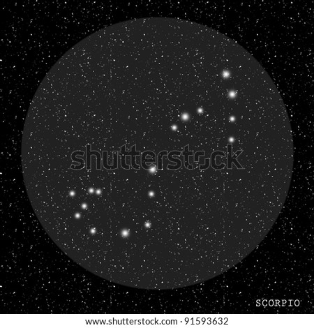 Scorpio Zodiac Constellation - stock photo