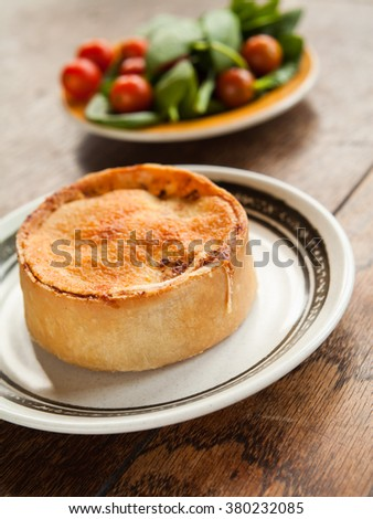 Scotch pie -  traditional scottish snack, full of delicious pork meat - stock photo