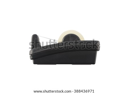 scotch tape holder isolated over white background with clipping path