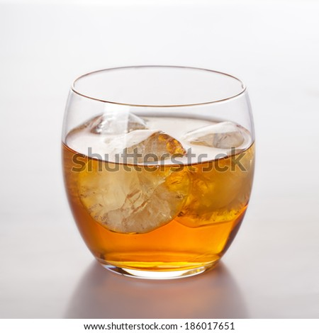 Scotch whiskey drink in glass