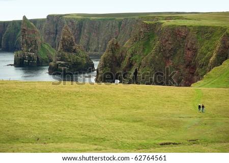 Scotland coast - stock photo