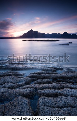 Scotland elgol beach - stock photo