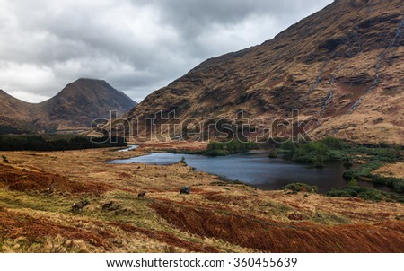 Scotland glencoe landscape - stock photo