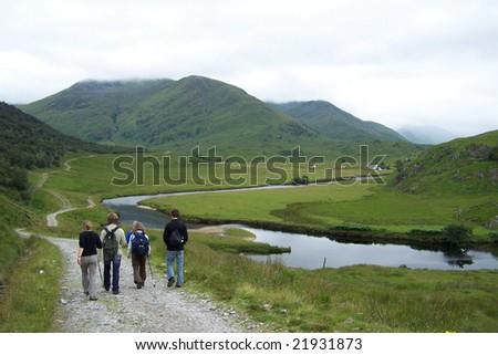 scotland nature walk - stock photo