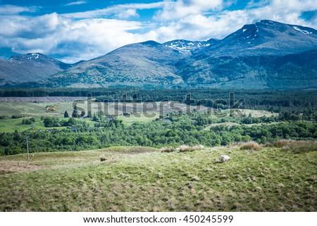 Scotland, U.K. - June 2016 Landscape - stock photo