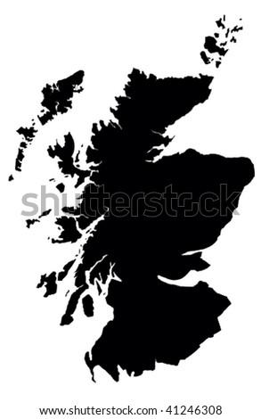 Scotland - white background - stock photo