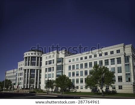 Scott E Matheson courthouse, Utah State Court,  The Matheson Courthouse, down town Salt Lake City, Utah, USA  - stock photo