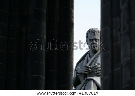 Scott Monument, Edinburgh, Scotland - stock photo