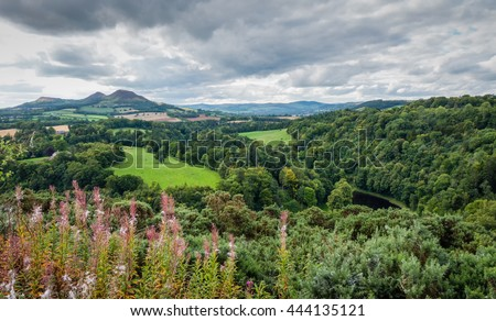 Scott's View in the Scottish Borders named after Sir Walter Scott's favorite place